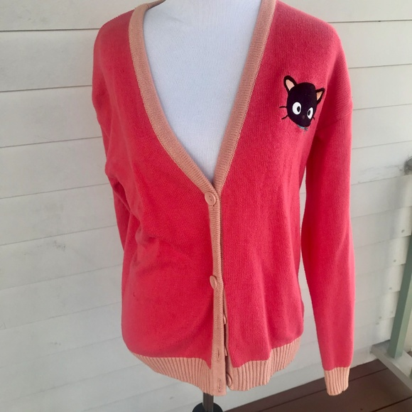 bd90f2fef Forever 21 Sweaters | Hello Kitty Forever Sanrio Letterman Sweater ...